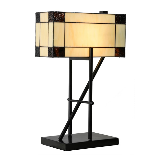 Tiffany Tafellamp Geometric Aan