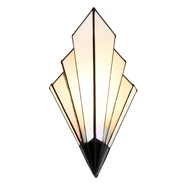 Tiffany French Art Deco Wandlamp Aan