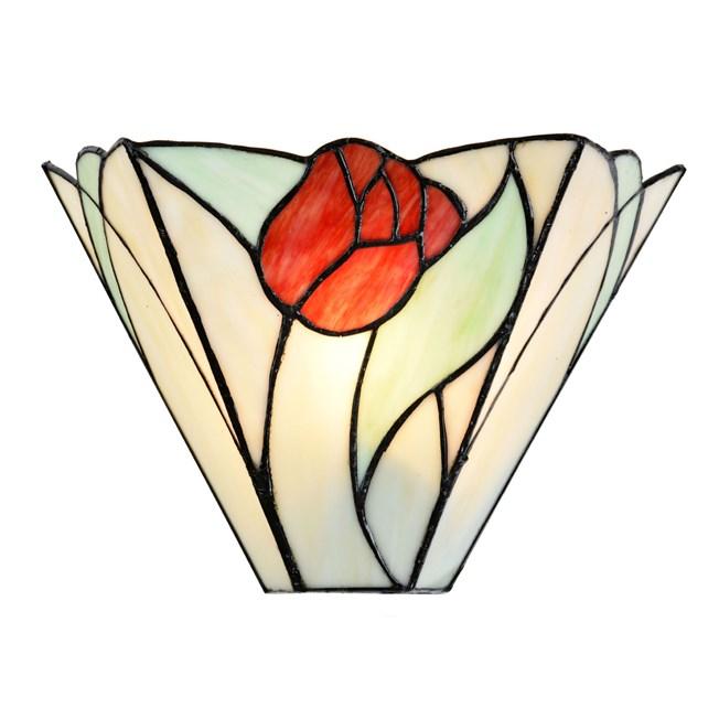 Tiffany Wandlamp Tulip Aan