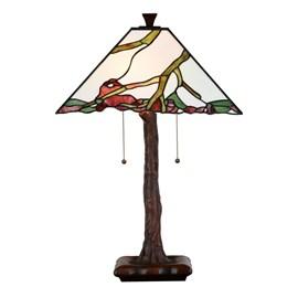 Tiffany Tafellamp Exotic Maple