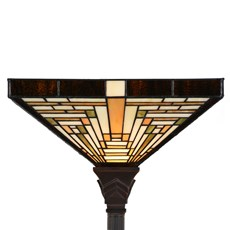 Tiffany Vloerlamp Rising Sun Uplighter