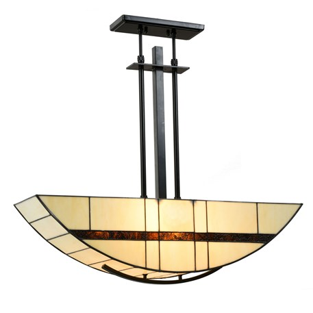 Tiffany Hanglamp Geometric Aan