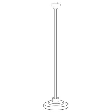 Strak Vloerlamp Armatuur