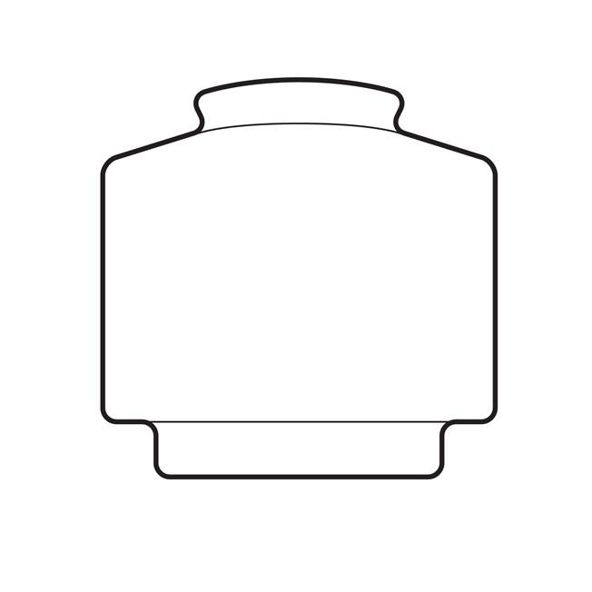 Glaskap Smalle Getrapte Cilinder