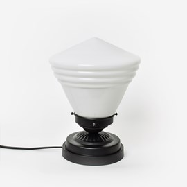 Lage Tafellamp School De Luxe Small Opaal Moonlight