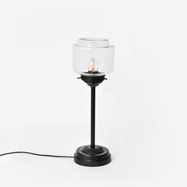 Slanke tafellamp Getrapte Cilinder Small Transparant Moonlight
