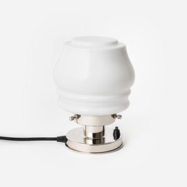 Tafellamp Bloemknop 20's Nikkel