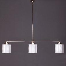 Hanglamp 3-Lichts met Glaskappen de Klerk