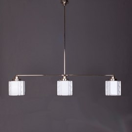Hanglamp 3-Lichts met Glaskappen Expressionisme