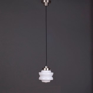 voorbeeld van een van onze Hanglampen aan Vintage Snoer