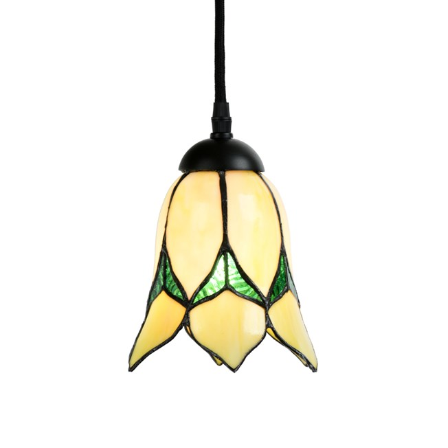 Tiffany Hanglamp Lovely Flower Yellow - Aan