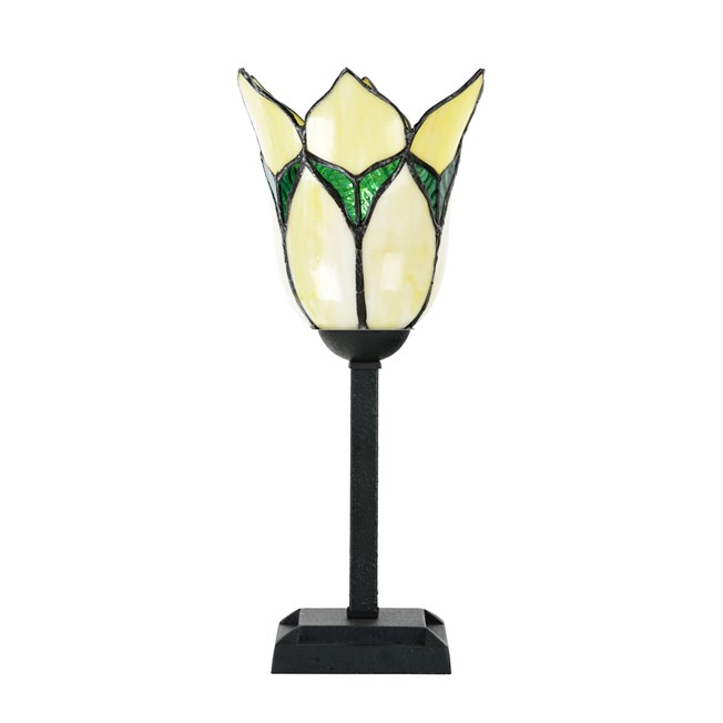 Tiffany Tafellamp Lovely Flower Yellow - Uit