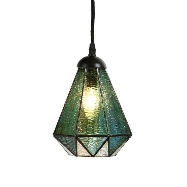 Tiffany Hanglamp Arata Groen - Aan