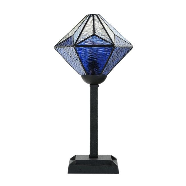 Tiffany Tafellamp Akira Blue - Uit