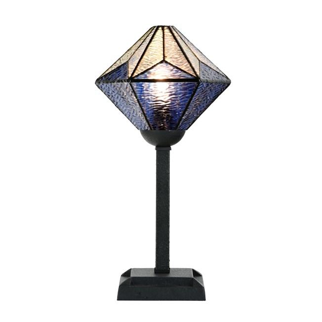 Tiffany Tafellamp Akira Blue - Aan