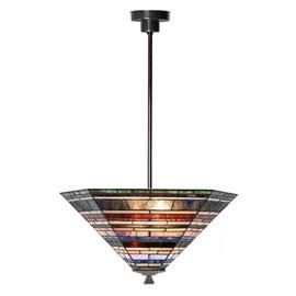 Tiffany Strakke Hanglamp Industrial large