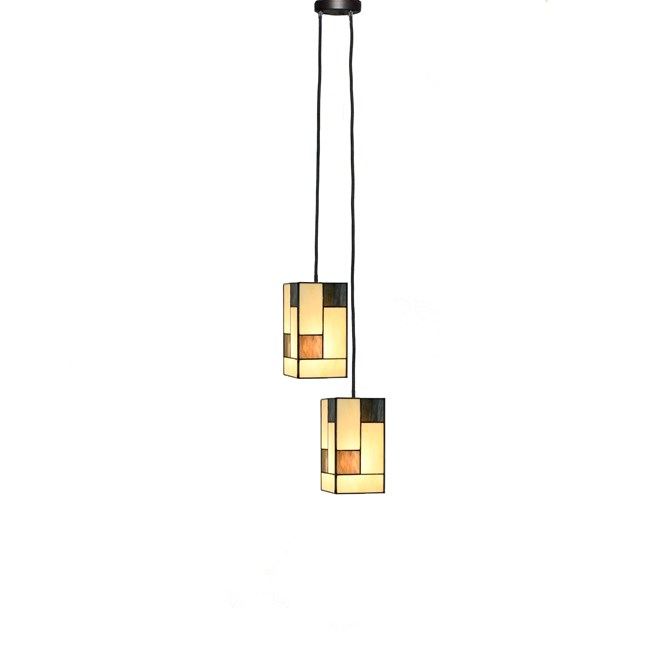 Tiffany Kroonluchter Mondriaan Small Square 2