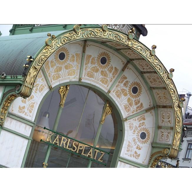 Een authentiek model in de hal van het Karlsplatz Stadtbahn-station.