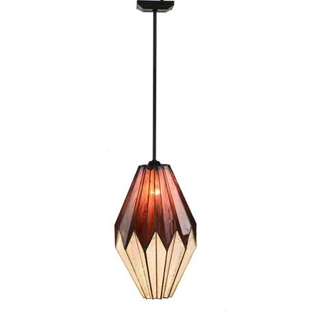 Tiffany Hanglamp Origami - aan