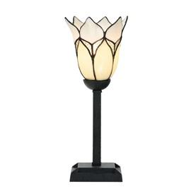 Tiffany Tafellamp Lovely Flower White