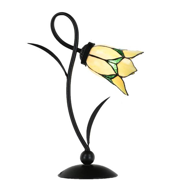Lovely Flower Tafellamp Yellow Romantic - aan