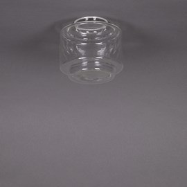 Glaskap Getrapte Cilinder small Transparant