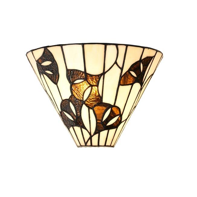 Tiffany Wandlamp Ginkgo Leaf -Aan