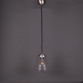 Hanglamp Linnen Vintage Snoer School de Luxe small Helder