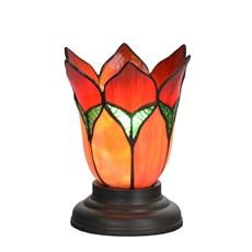 Laag Tiffany Tafellampje Lovely Flower Red