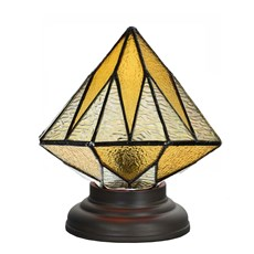 Laag Tiffany Tafellampje Aiko Yellow