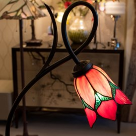 Tiffany Vloerlamp Lovely Flower Red