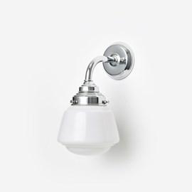 Wandlamp High Button Curve Chroom