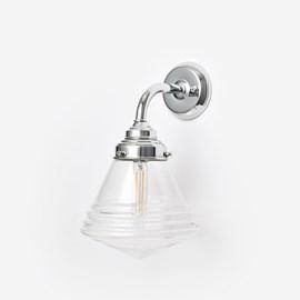 Wandlamp Luxe School Small Helder Curve Chroom